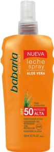 Babaria Aloe Vera Spray Sun Milk SPF50 UVA and UVB Protection 200ml